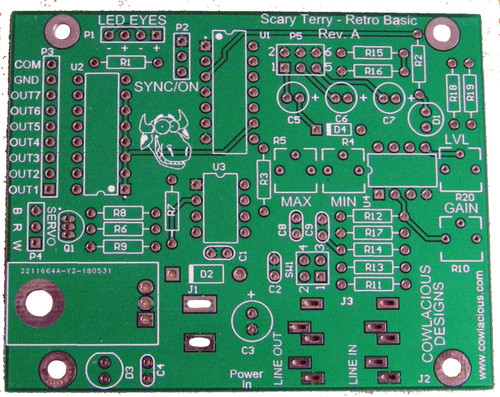 Scary Terry - Retro Basic PCB  See the Scary Terry - Retro Basic Kit if you want the PCB and all of the parts!