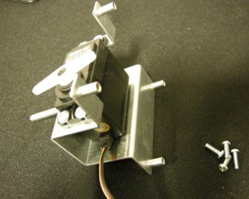 Shown with the servo mounted in the bracket.  Servo is not included.