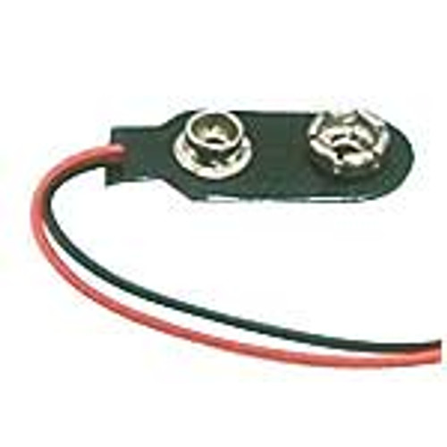 """9V battery clip with 6"""" leads"""