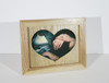 5x7 Wooden Heart Frame