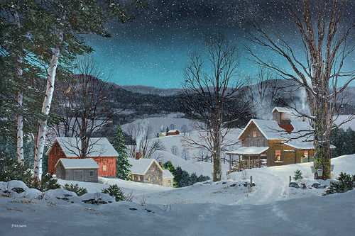 A Winter's Night by Vermont artist Fred Swan