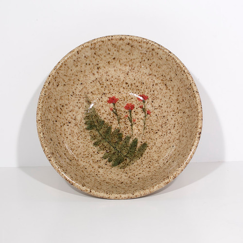 Small Wildflower Bowl (Red Flowers)