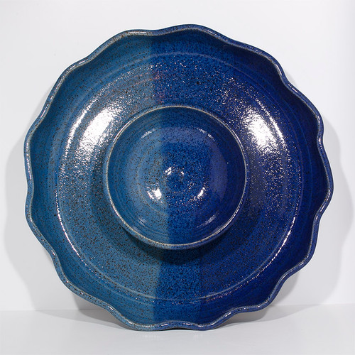 One Piece Chip and Dip Set - Dark Blue