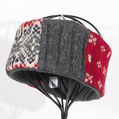 Head Band - Gray and Red