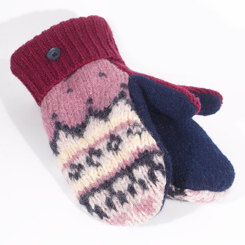 Mittens - Blue and Pink