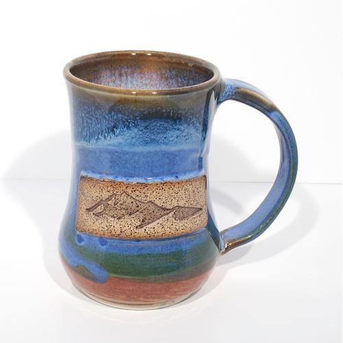 Mug - Mountain - Blue/Tan
