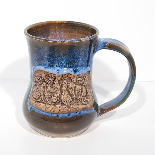 Mug - Cats- Blue