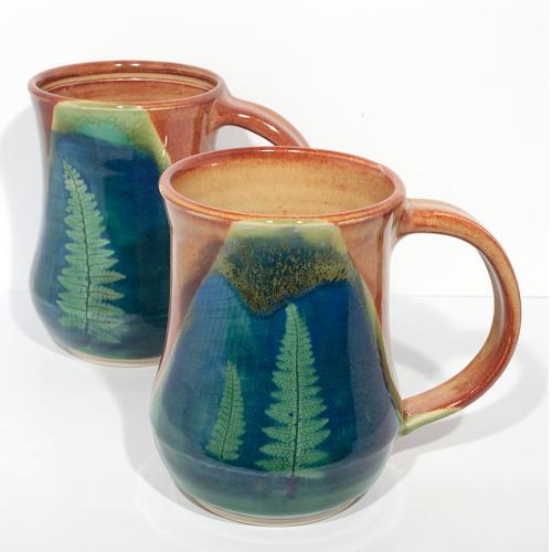 Mug - Fern- Tan/Blue