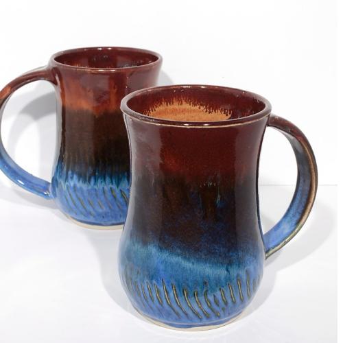 Mug - Dk Brown/Blue