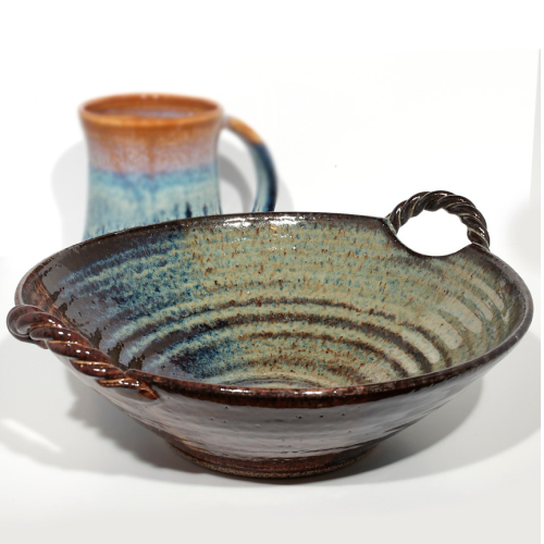 Twisted Handle Bowl - Brown
