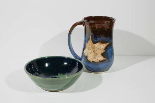 Maple Leaf Bowl - Green