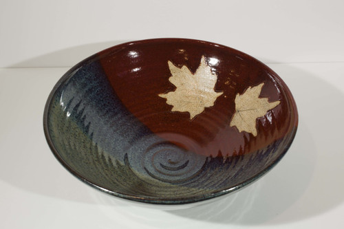 Large Leaf Bowl - Red/Storm