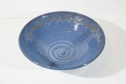 Large Stamped Bowl - Blue