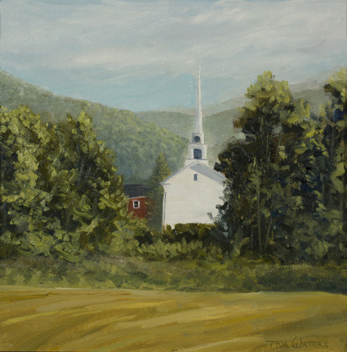 Stowe Church (Plein Air)