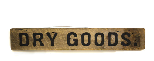 Wooden Sign - Dry Goods