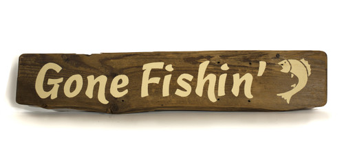 Wooden Sign - Gone Fishin'