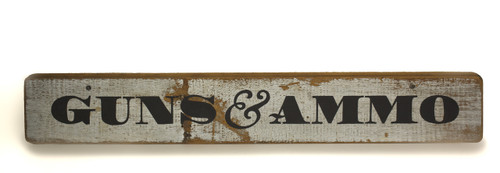 Wooden Sign - Guns and Ammo