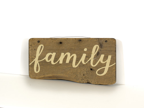 Wooden Sign - Family