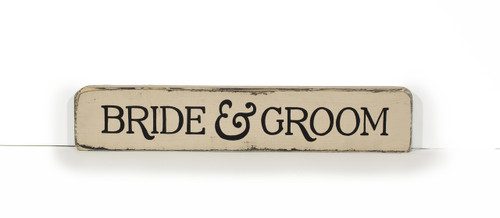 Wooden Shelf Sitter - Bride and Groom