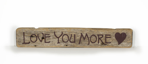 Wooden Shelf Sitter - Love you more