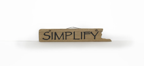 Wooden Sign - Simplify