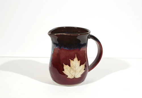 Maple Syrup Pitcher - with Maple Leaf