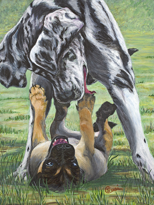 Great Danes Play - Print