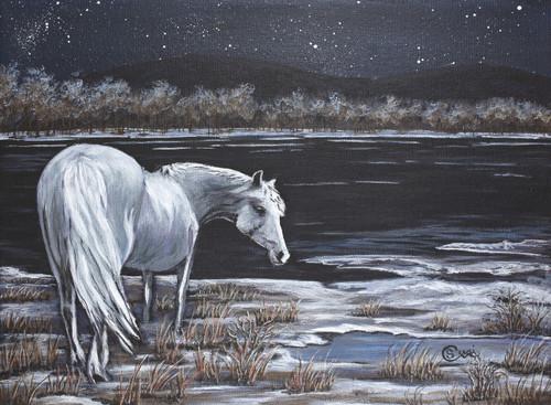 White Horse Waits - Print