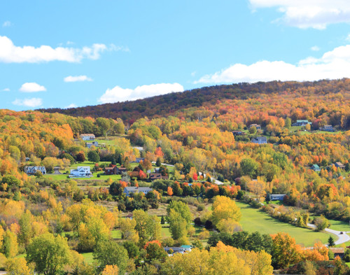 French Hill in Fall - Saint Albans, VT