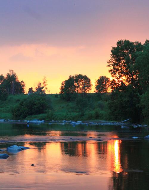 Missisquoi River Sunset - Sheldon, VT