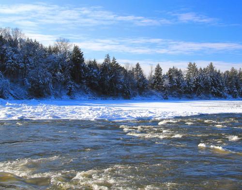 Winter River - Highgate, VT