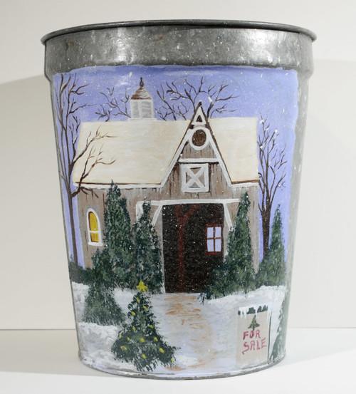 Winter Barn (sap bucket)