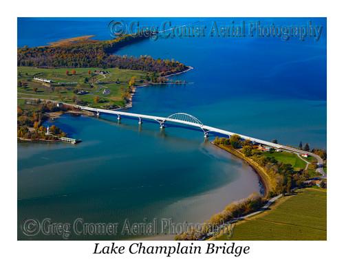 Lake Champlain Bridge aerial