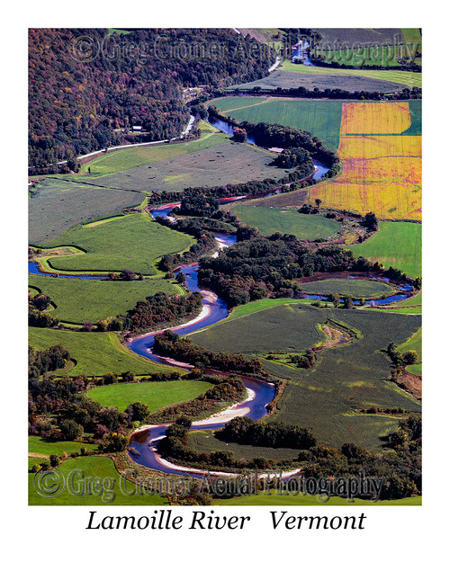 Lamoille  River aerial