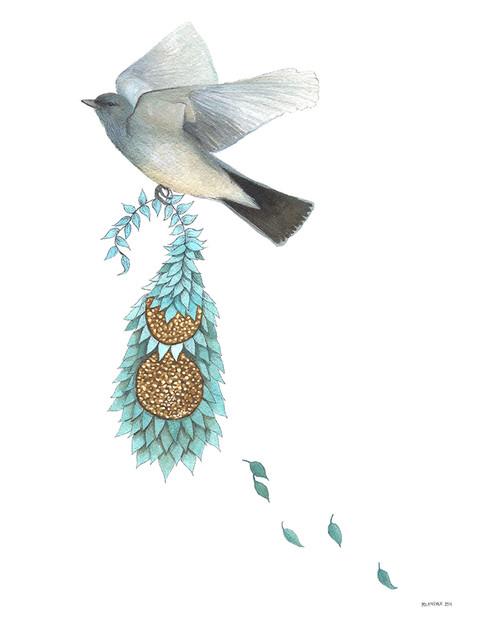 Quilted Bundles: Bird IV