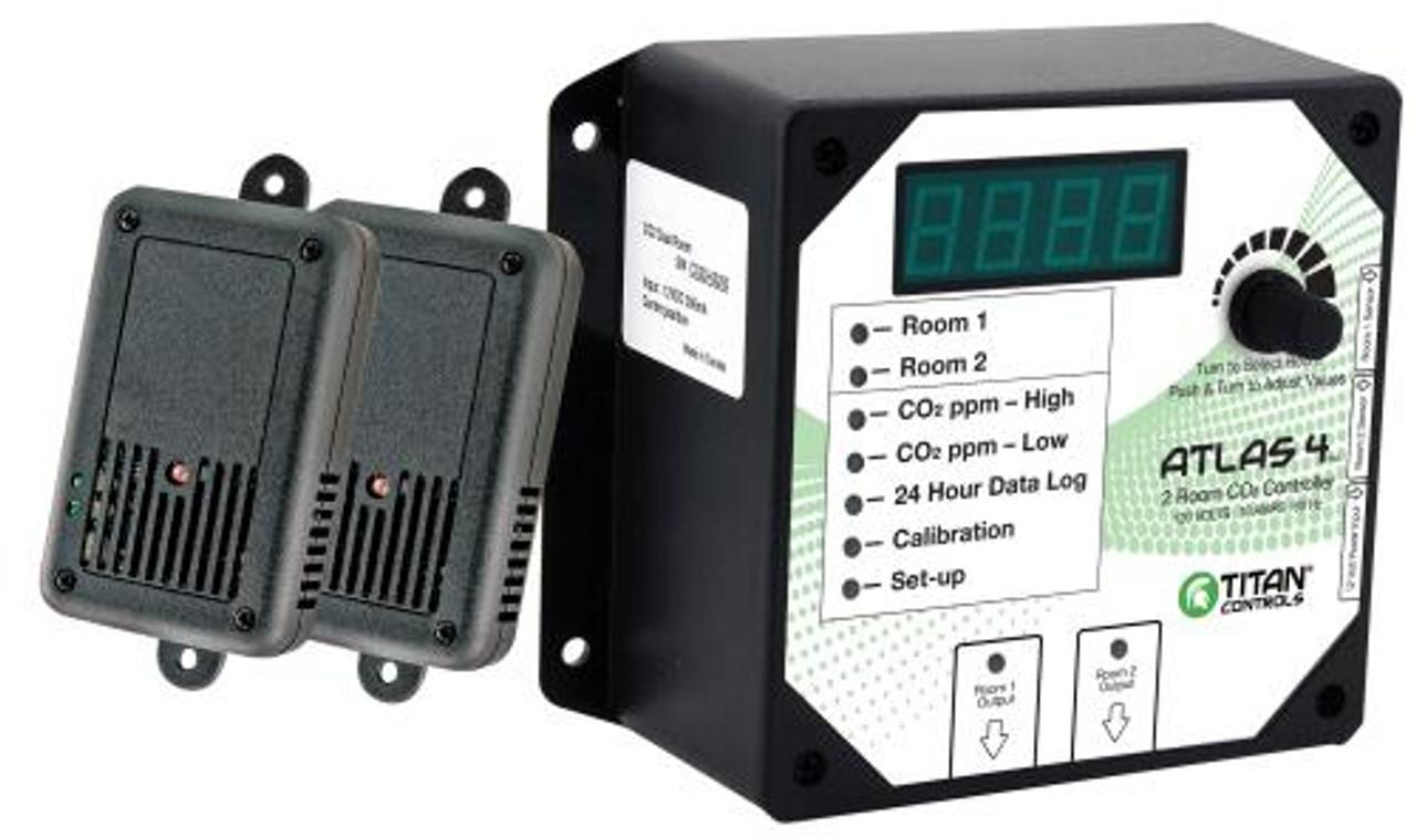 Titan Controls Atlas 4 - 2 Room CO2 Monitor/Controller