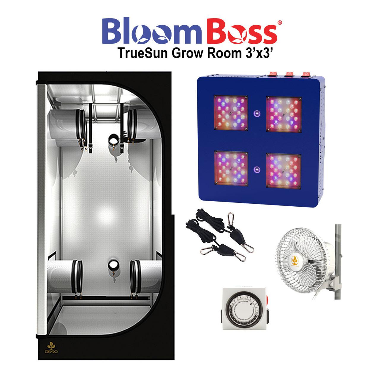 BloomBoss TrueSun 3'x3' Grow Room