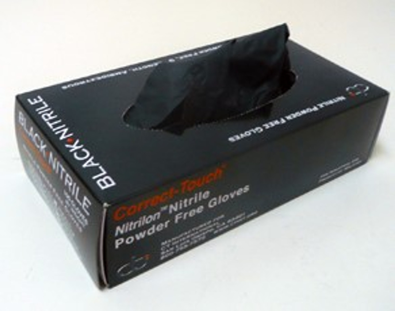 Correct Touch Black Nitrile Gloves Box 100ct