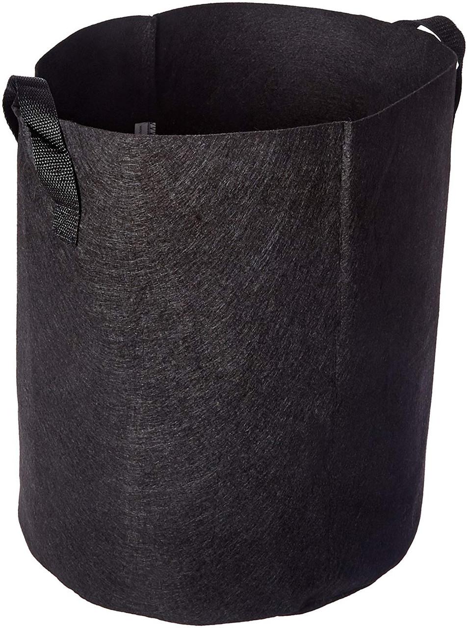 Viagrow Fabric Pot w/ Handles Black 7gal 5pk