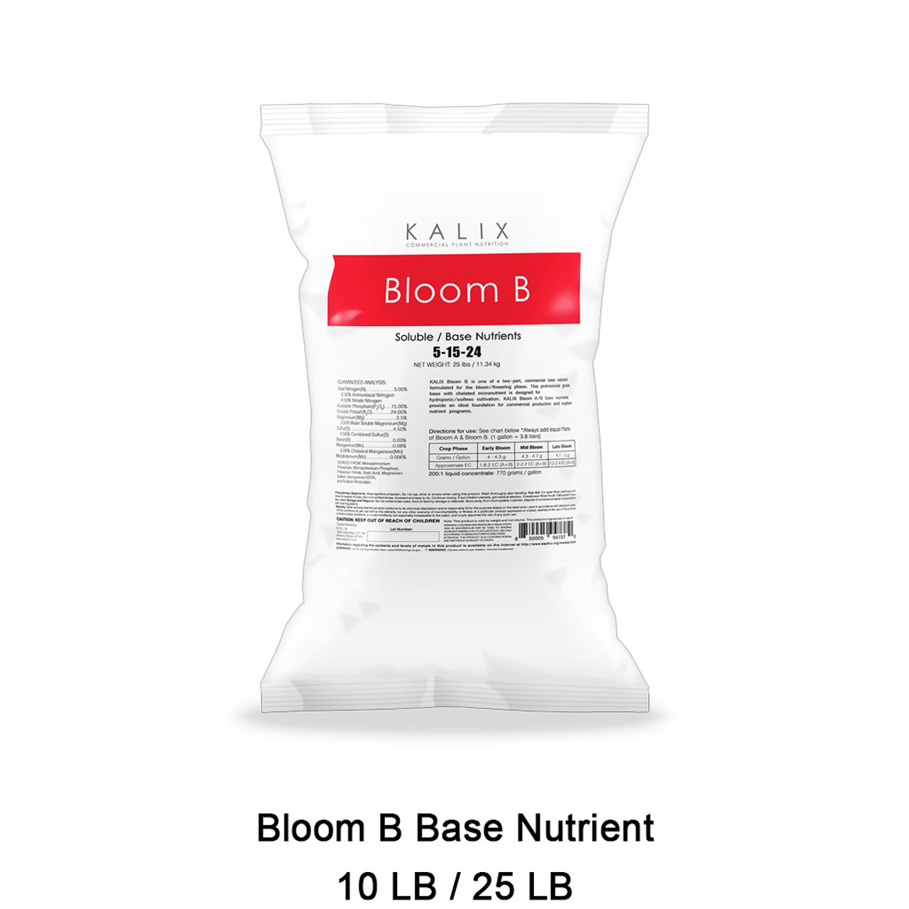 Kalix Bloom B Base 25LB