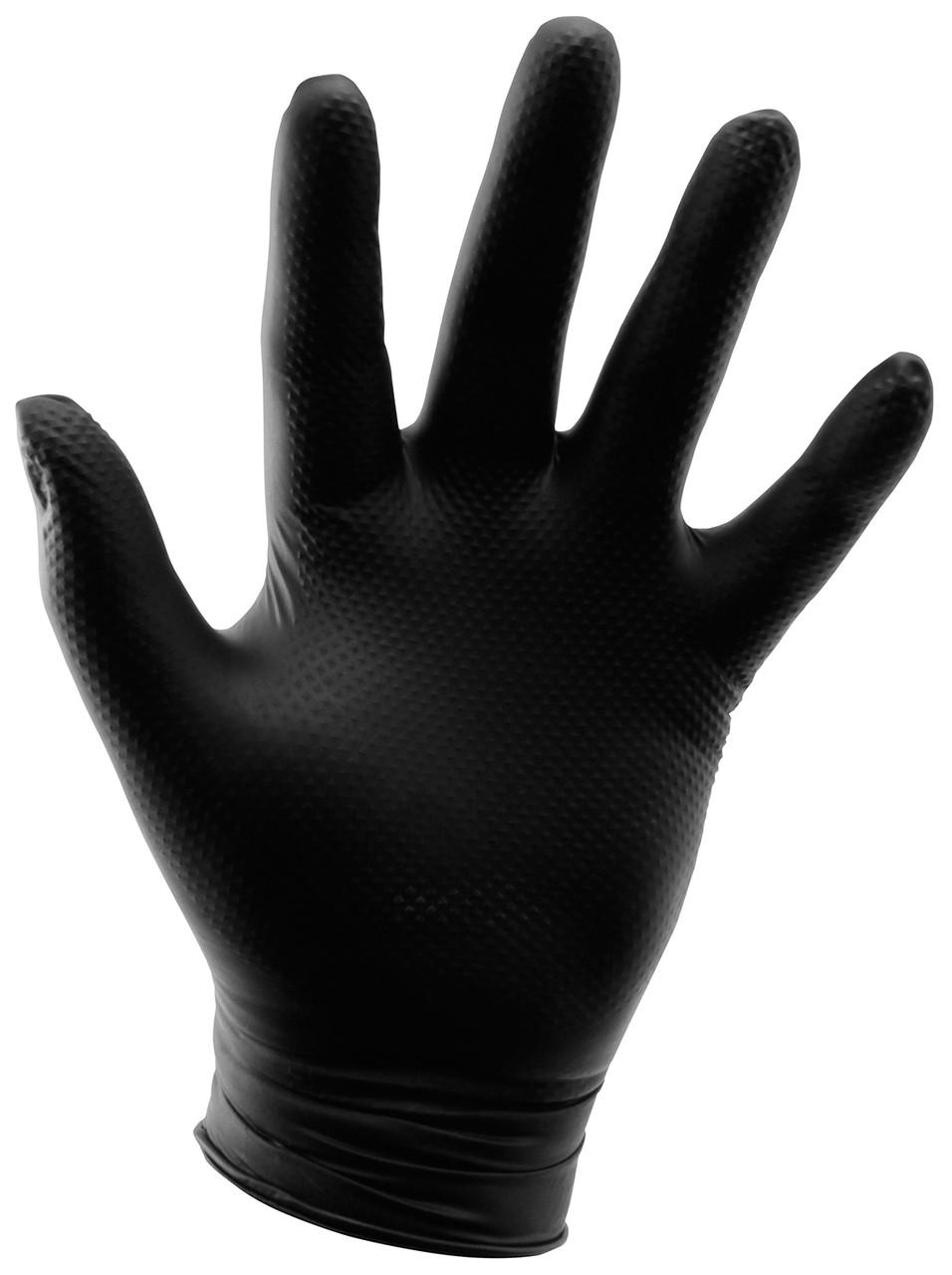 Grower's Edge Black Powder Free Diamond Textured Nitrile Gloves 6 mil 100ct