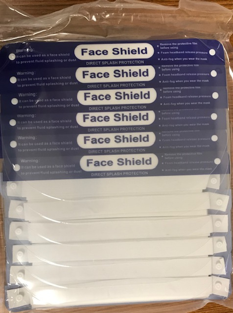 Face Shield Protective Isolation Mask 12Pcs