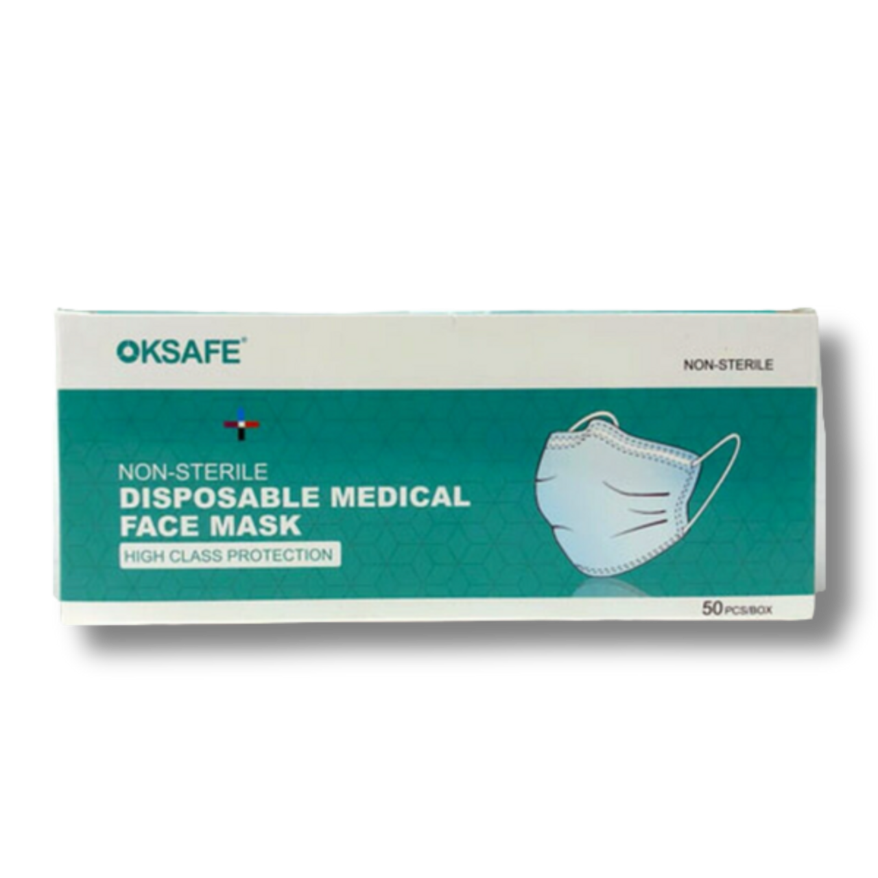 OKSAFE 3-Ply Disposable Face Masks - Box of 50  3-ply disposable masks help create a physical barrier between the mouth and nose of the wearer and potential contaminants in the immediate environment.   MATERIAL: Non-woven fabric and melt-blown filter paper. Ear loops: Latex free Nose piece: Covered adjustable aluminum   SPECIFICATIONS: All masks are made by factories that have FDA certificates of registration.  Product is not intended for use as a surgical mask or to provide liquid barrier protection. In-Stock and ready to ship from our Massachusetts, USA warehouses for quick delivery!  -- Ships out within 1 Business Day -- NO Returns on Protective Equipment --