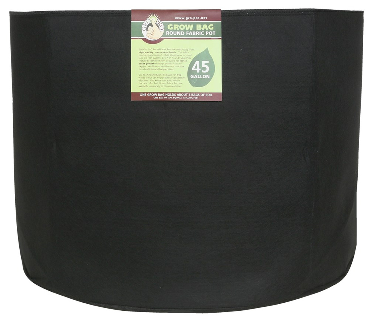 Gro Pro Premium Round Fabric Pot 45 Gallon