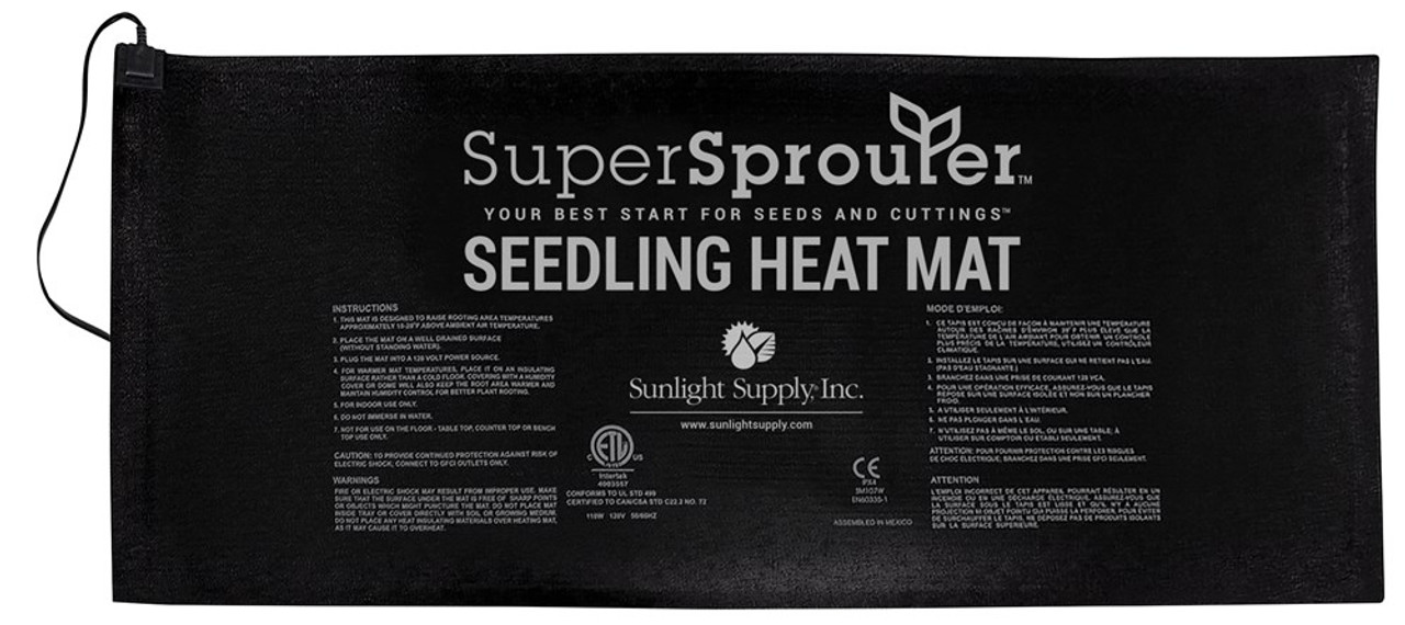 Super Sprouter Seedling Heat Mat - 4 Tray