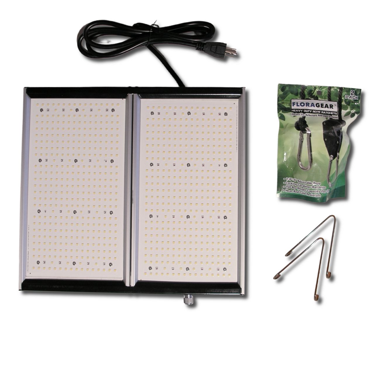 """FloraGear Flora S2   12"""" x 13"""" Full-Spectrum LED Grow Light with Built-In Infinite Control Dimmer   200w - 120v"""