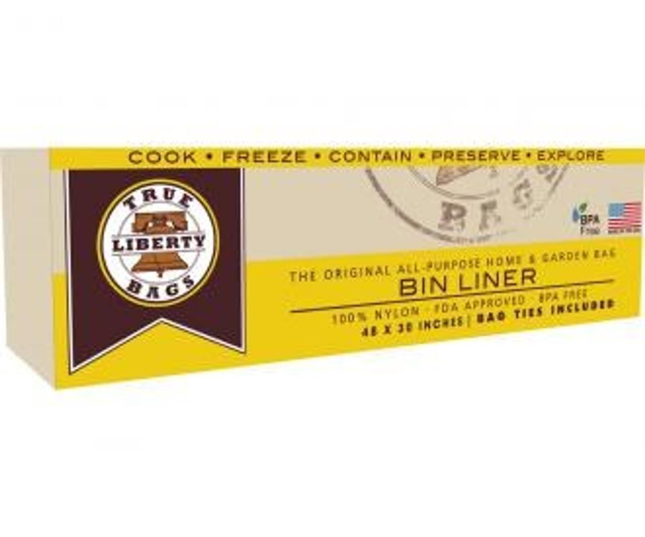 "True Liberty Bin Liners 48""x30"" 25pk"