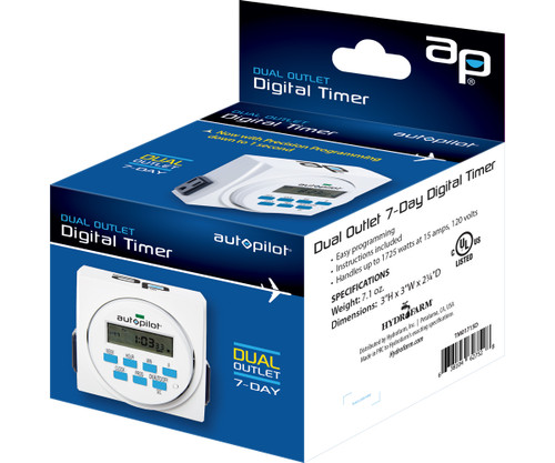Autopilot Digital Timer Grounded Dual Outlet