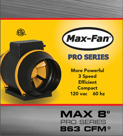 "Max-Fan 8"" Pro-Series, 3-Speed"