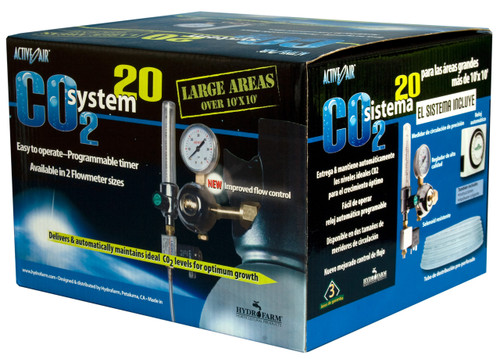 Hydrofarm CO2 Injection System 2 - 20 CFH w/ Timer neHydro.com